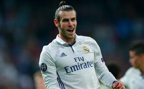 Картинка поле, улыбка, футбол, звезда, медаль, Испания, футболист, гол, football, игрок, Реал Мадрид, Real Madrid, Gareth …