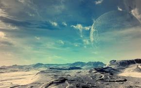 Обои планета, земля, небо