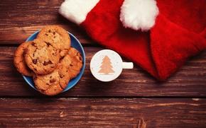 Картинка праздник, елка, печенье, Рождество, Happy New Year, Christmas, Merry Christmas, holiday, cool, Christmas tree, for …