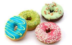 Картинка шоколад, пончики, сдоба, десерт, выпечка, сладкое, chocolate, глазурь, крошка, dessert