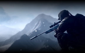 Обои Battlefield 4, солдат, экипировка, снайпер
