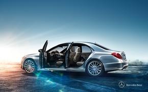 Картинка Mercedes-Benz, Салон, 2013, S-Class