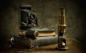 Картинка книги, очки, микроскоп, энтомолог, The Entomologist