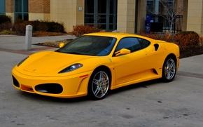 Картинка F430, Ferrari, yellow, parkig