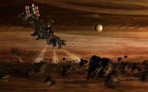 Картинка space, light, fantasy, sci fi, spacecraft, unknown