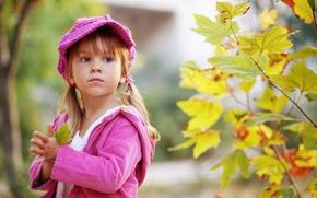 Картинка дети, lonely, маленькая девочка, ребенок, leaves, грусть, листья, child, sad, little girl, осень, и детство, ...