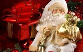 Картинка Новый Год, Рождество, Christmas, decoration, santa, Merry