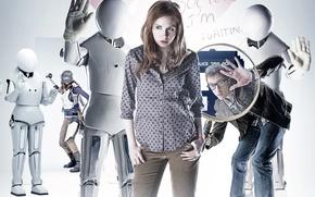 Обои роботы, сериал, Doctor Who, Доктор Кто, Эми, Amy Pond, Карен Гиллан, Karen Gillan, Эми Понд, ...