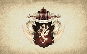 Картинка symbol, dragon, Targaryen, A Song of Ice and Fire, serie tv, shield, Game of Thrones, ...