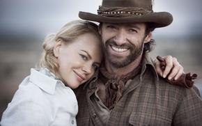 Картинка Австралия, Nicole Kidman, Hugh Jackman, Хью Джекман, Australia, Николь Кидман