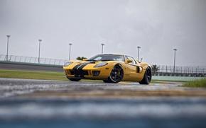 Картинка Ford, yellow, pirelli, HRE, RS105, GT