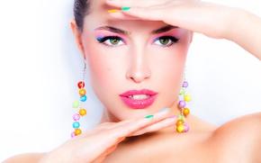 Картинка model, hands, pose, female, makeup