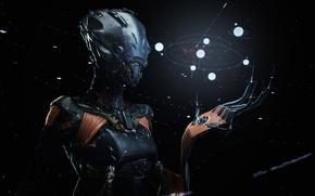 Картинка темно, robot, seeker