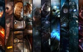 Картинка игра, Mass Effect, все персонажи