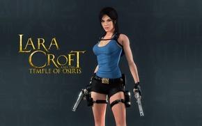 Картинка девушка, пистолеты, lara croft, tomb raider, lara croft and the temple of osiris