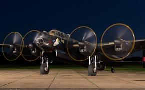 Картинка бомбардировщик, четырёхмоторный, тяжёлый, Avro Lancaster