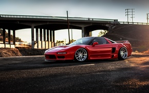 Картинка car, red, honda, хонда, nsx, hq wallpaper