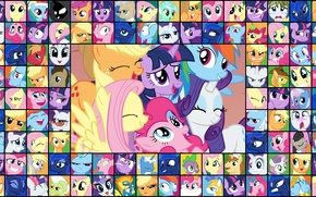 Картинка пони, рэрити, твайлайт, мои маленькие пони, дружба это магия, флатти, пинки