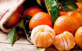 Картинка крупный план, фрукты, оранжевые, мандарины, цитрусовые
