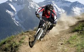 Картинка Downhill, mtb, велосипед, горы
