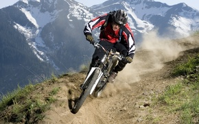 downhill, mtb, велосипед, горы обои