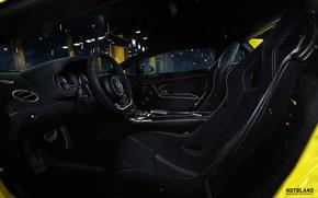Обои Lamborghini, руль, Superleggera, Gallardo, салон, LP 570-4, сиденье, notbland, Webb Bland