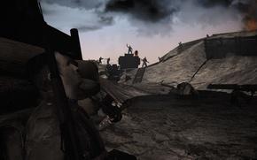 Картинка soldier, Germany, fog, Britain, tank, WWI, WW1, luger, g38, Verdun 1914-1918, gatling machingun, great war, …
