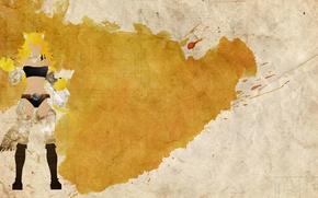 Картинка желтые волосы, Akame ga kill, Тейгу, леона