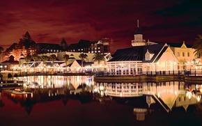 Картинка ночь, огни, зарево, Южная Африка, Порт-Элизабет