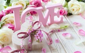 Картинка любовь, цветы, розы, valentine's day