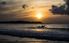 Картинка море, пейзаж, закат, Sri Lanka