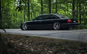Картинка car, bmw, black, e38, stance, 7 series, 740iL
