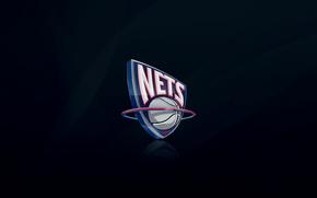 Картинка Синий, Баскетбол, Фон, Логотип, NBA, Джерси, Сетки, New Jersey Nets