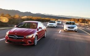 Картинка Cars, Автомобили, Buick Regal, Volkswagen CC, BMW 320i, Mercedes-Benz CLA250