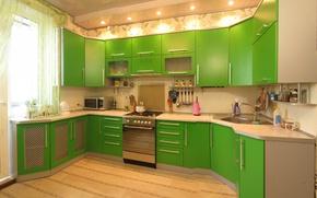 Картинка комната, кухня, интерер