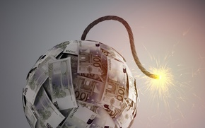 Картинка paper, explosive, banknotes, world economy