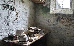 Картинка стол, комната, окно, посуда