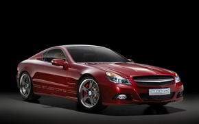 Обои красный, Mercedes-Benz, SL-studioTurino