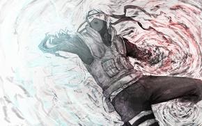 Картинка маска, мужчина, бандана, naruto, шрам, шаринган, solo, hatake kakashi