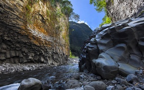 Картинка природа, река, гора