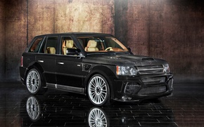 Картинка Land Rover, Range Rover, Car, Black, Machine, Tuning, Sport, Rover, Automobile, Wheels