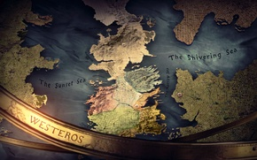 Картинка Fantasy, Game of Thrones, Song of Ice and Fire, Westeros, Map