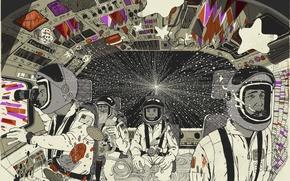 Обои космонавты, Вектор, дизайн