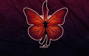 Картинка фон, рисунок, крыло, butterfly, sticker, cs go, нож-бабочка