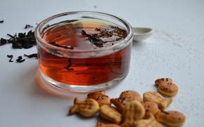 Картинка чай, чаша, печенье, сахар