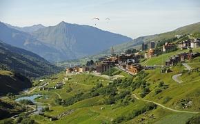 Картинка город, Франция, Рона-Альпы, Savoie, Menuires