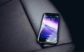 Картинка стиль, кожа, smartphone, Iphone 6, space grey