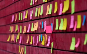 Картинка стена, цвет, Notes