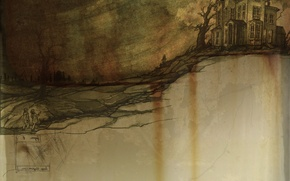 Картинка дети, дом, мрак