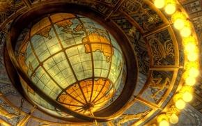 Картинка свет, лампочки, Глобус, знаки зодиака